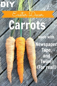 DIY Easter Decor Carrots
