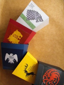 DIY Game of Thrones Popcorn Boxes