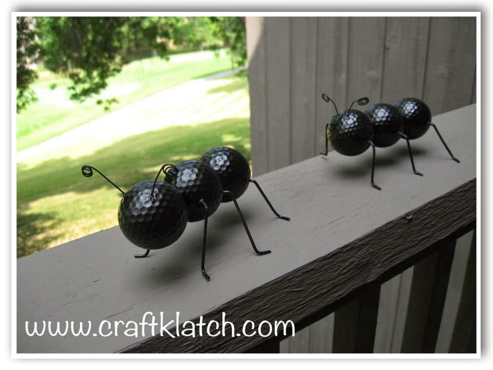12 garden decor crafts the craftiest couple diy golf ball ants solutioingenieria Choice Image
