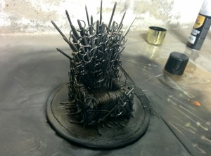 DIY Iron Throne Phone Stand