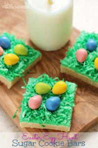 Easter Egg Hunt Sugar Cookie Bars