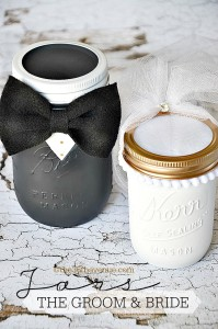 Groom and Bride Mason Jar Craft