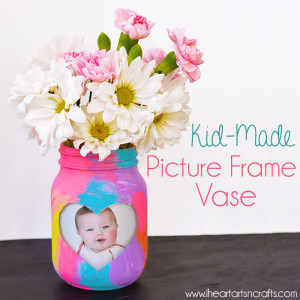 Kid-Made Picture Frame Vase