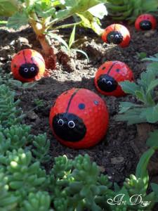 Ladybug Golf Balls Craft