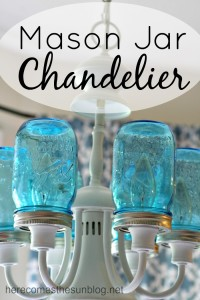 Mason Jar Chandelier Craft