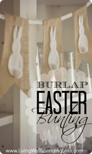 No-Sew Burlap and Bunny Bunting