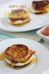 Paleo McGriddle Breakfast Sandwich