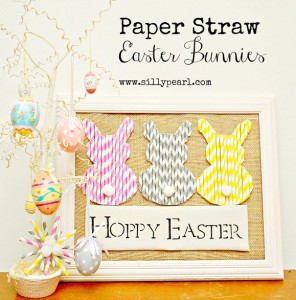 Paper Straw Easter Bunnies