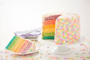 Spring Pastel Confetti Cake