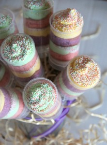 Spring Rainbow Push Up Pop Cupcakes