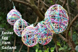 Yarn Egg Garland Craft