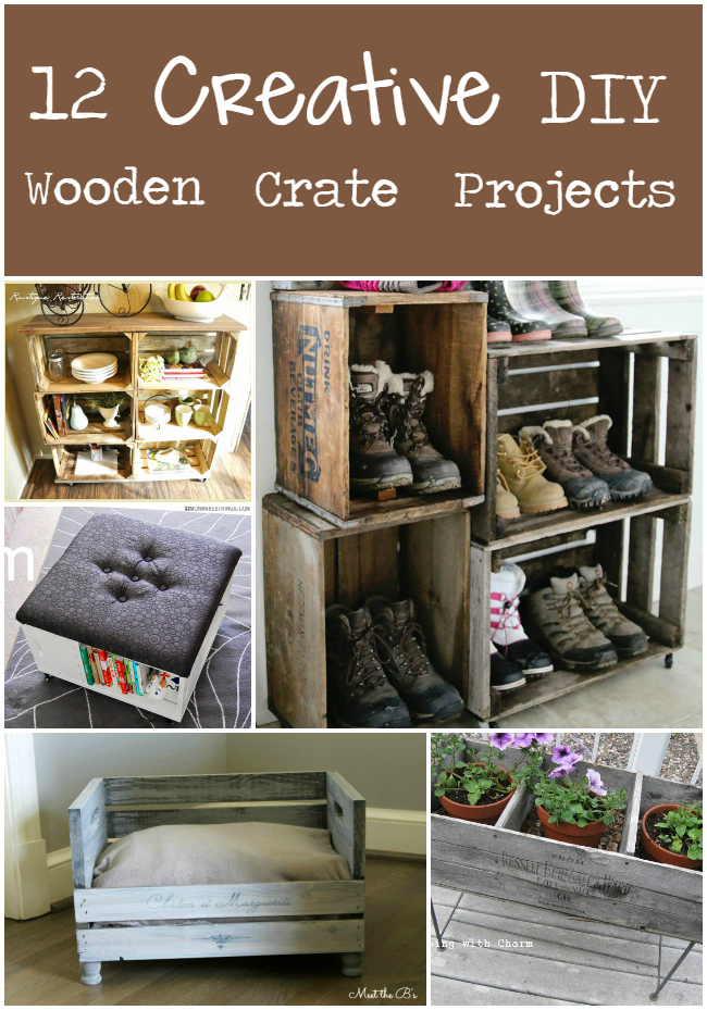 12 Creative DIY Projects From Wooden Crates | The Craftiest Couple