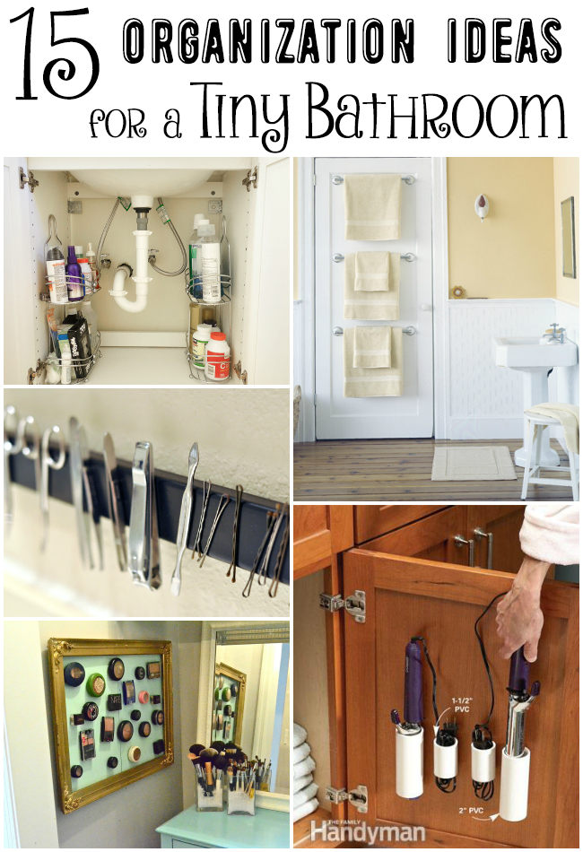 15 Organization Ideas for a Tiny Bathroom