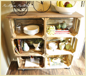 DIY Crate Buffet