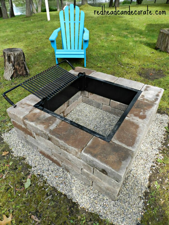 easy diy pit with grill 12 diy pits for your backyard the craftiest