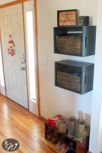 DIY Mudroom Storage Crates