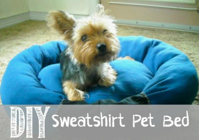 DIY Sweatshirt Pet Bed