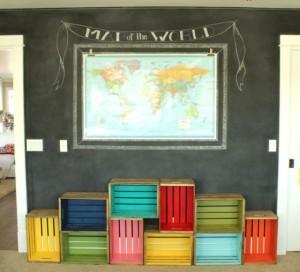 DIY Wood Crate Bookcase
