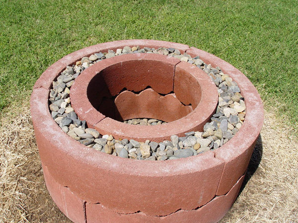 Easy Concrete Tree Ring Fire Pit
