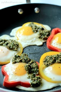 Egg in a Hole with Basil Pesto