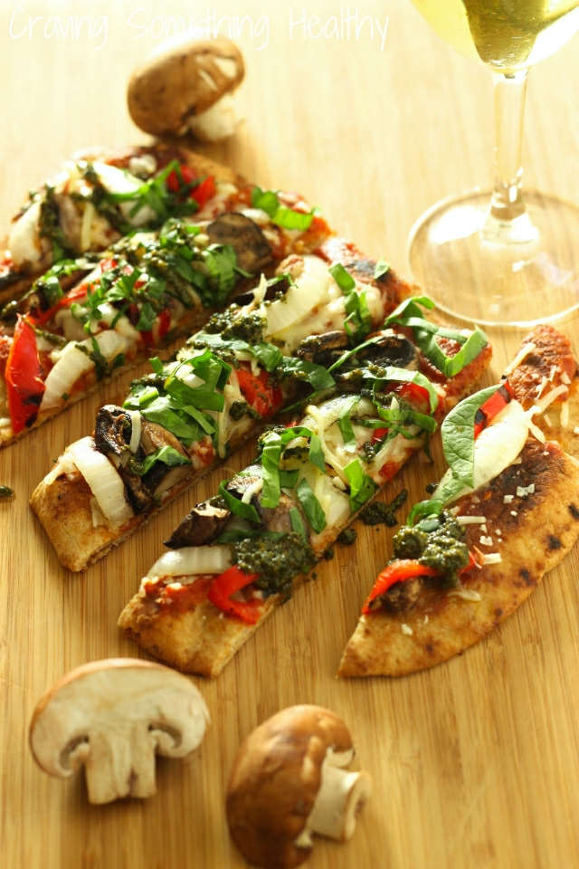 Grilled Vegetable Flatbread Pizza