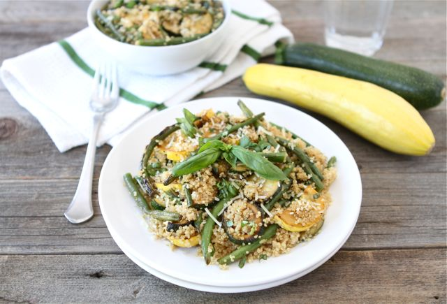 Quinoa with Grilled Summer Squash and Green Beans