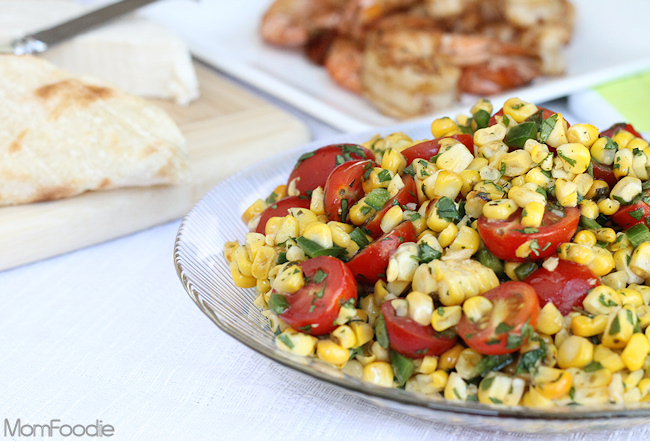 Tex-Mex Grilled Sweet Corn & Tomato Salad Recipe