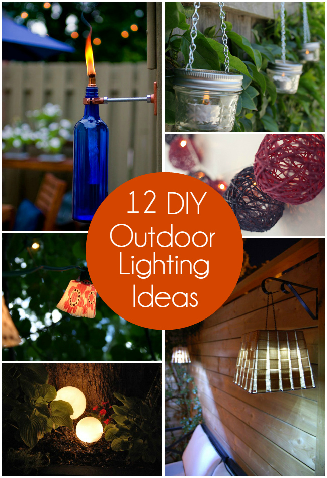 12 diy outdoor lighting ideas the craftiest couple mozeypictures Images