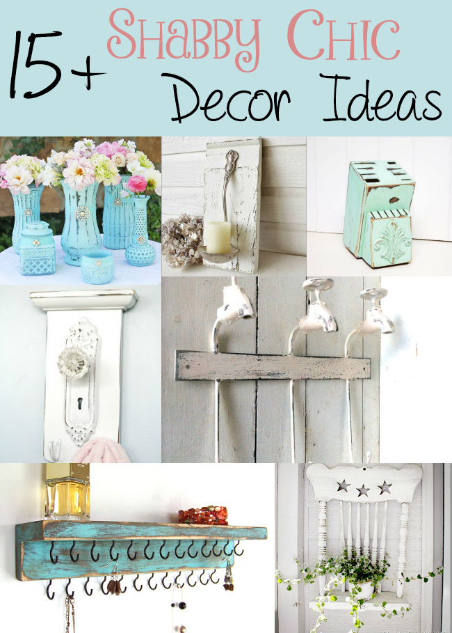 15 shabby chic decor ideas the craftiest couple. Black Bedroom Furniture Sets. Home Design Ideas