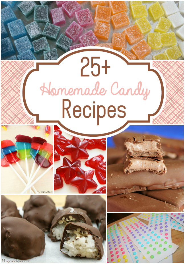 25+ Homemade Candy Recipes