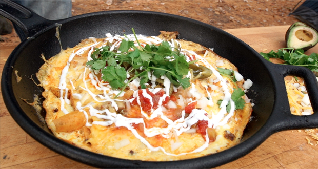 Campfire Mexican Omelet
