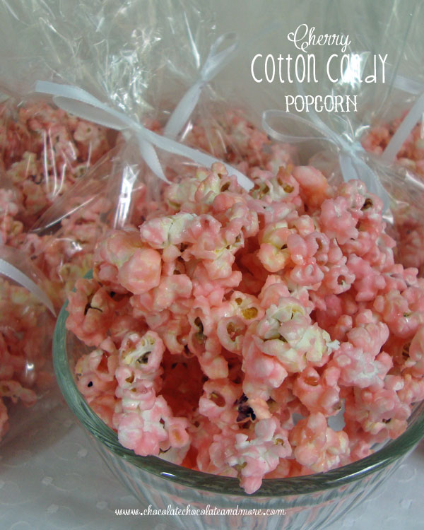 Cherry Cotton Candy Popcorn