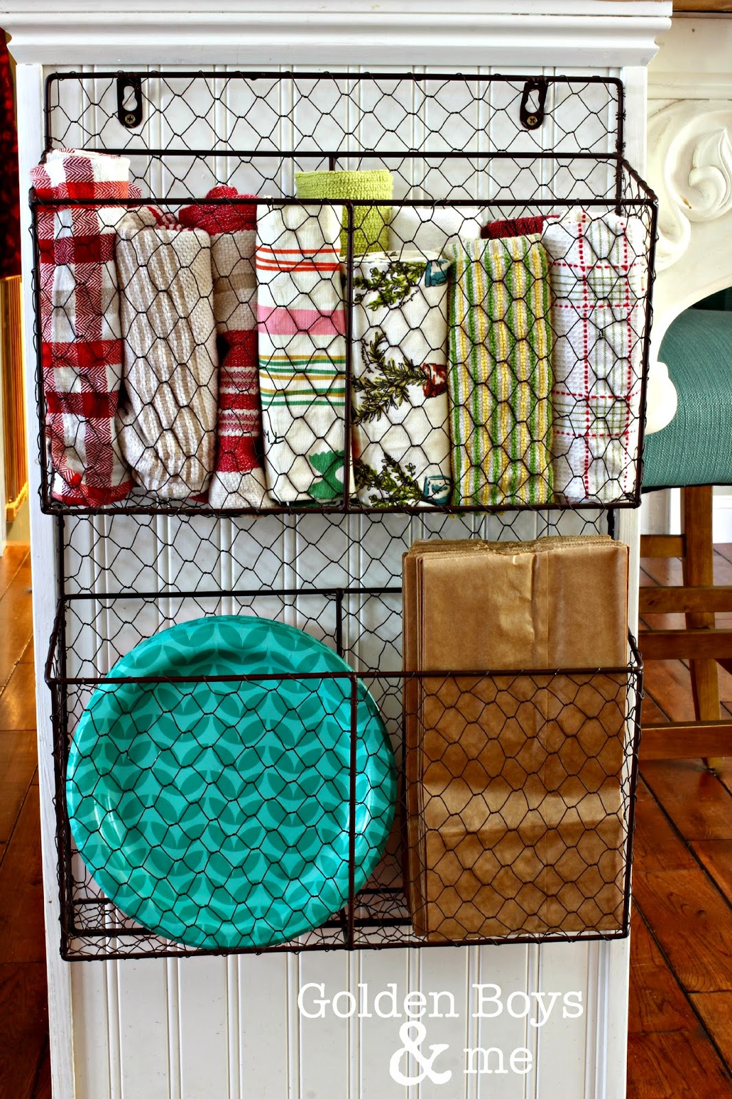 Hanging Wire Basket For Kitchen Storage
