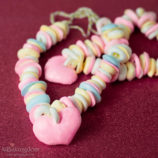 Homemade Meringue Candy Necklaces