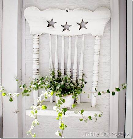 Shabby Chic Chair Shelf