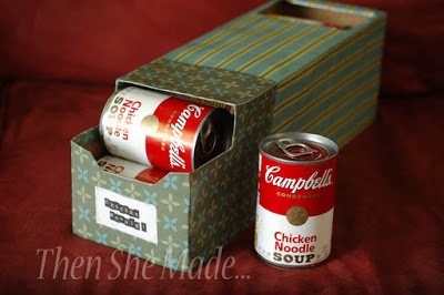 Soup Can Storage Idea
