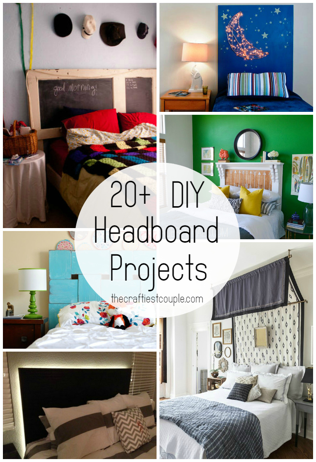 20+ DIY Headboard Projects
