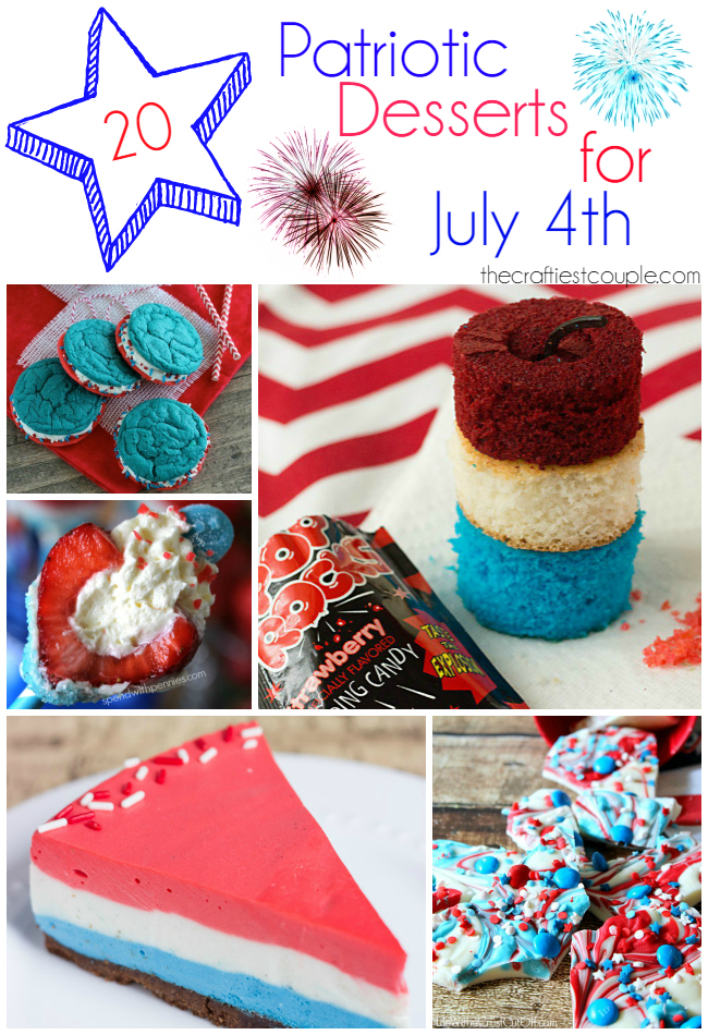 20 Patriotic Desserts for July 4th