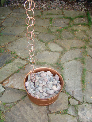 Copper Ring Rain Chain