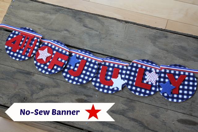DIY 4th of July No Sew Banner