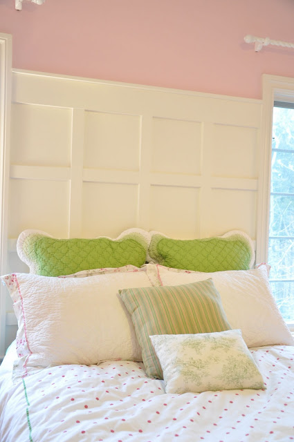 DIY Paneled Headboard