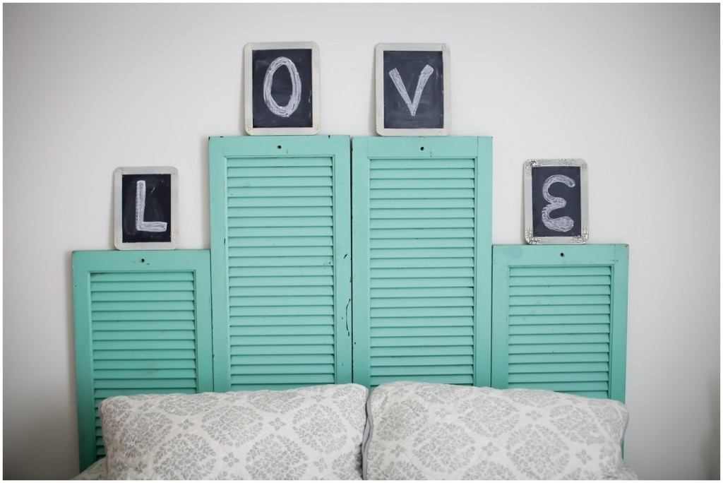 DIY Vintage Shutter Head Board