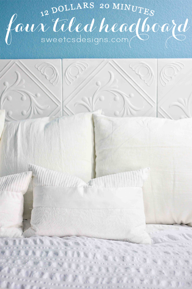 Faux Tiled Headboard