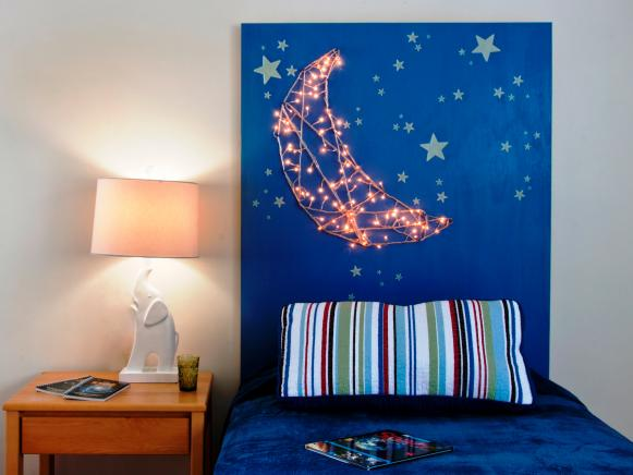 Kids Headboard With Built In Nightlights 2