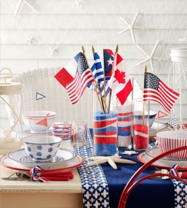 Patriotic Layered Sand Centerpiece