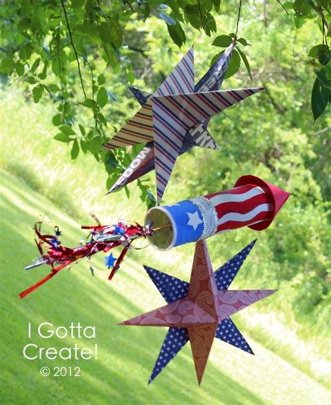Patriotic Pringles Rocket