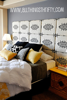 Tiled Fabric Headboard