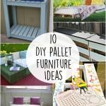 10 DIY Pallet Furniture Craft Ideas