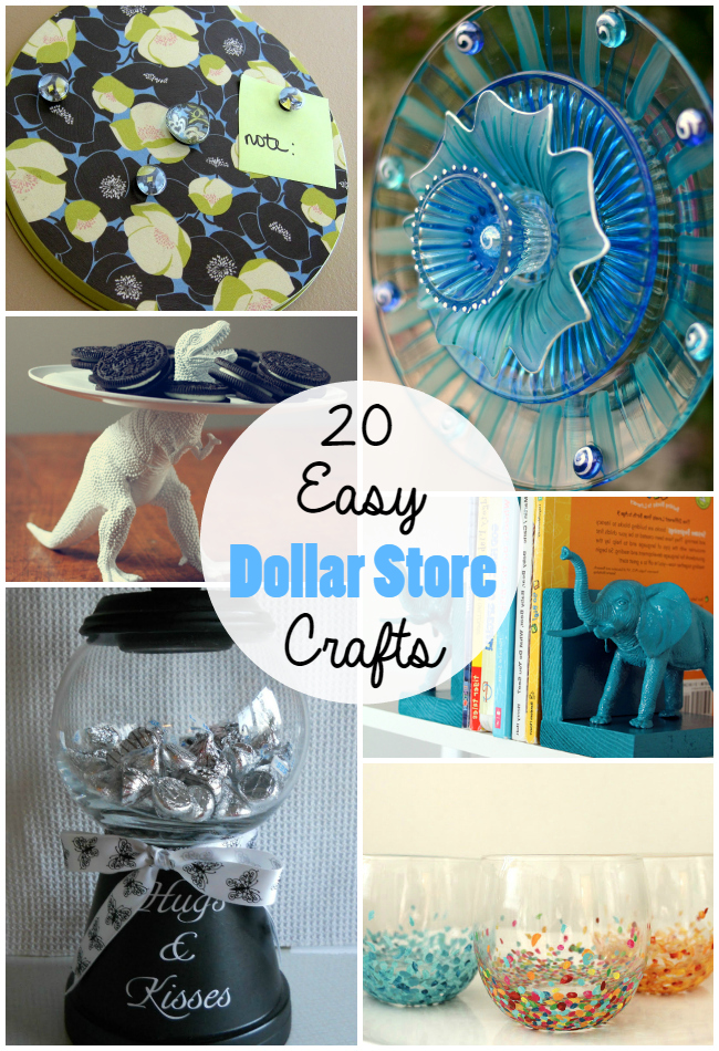 20 Cheap and Easy Dollar Store Crafts