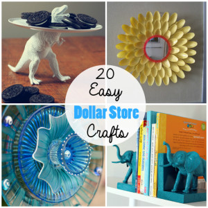 20 Simple & Cheap Dollar Store Crafts